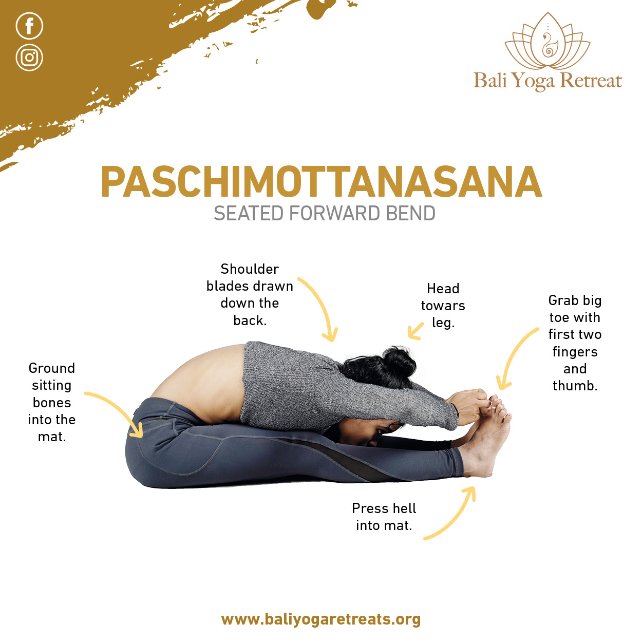 Seated forward bend pose for back pain